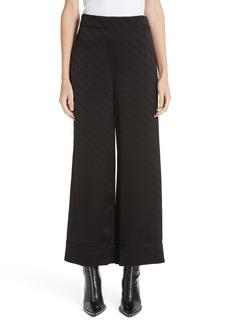 Alexander Wang Logo Jacquard Wide Leg Pajama Pants