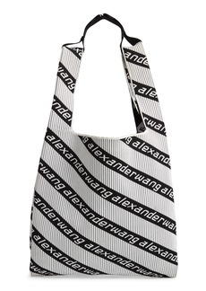Alexander Wang Logo Knit Jacquard Shopper