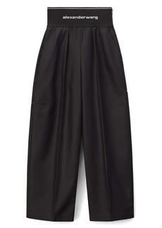 Alexander Wang Logo Waist Wide Leg Pants