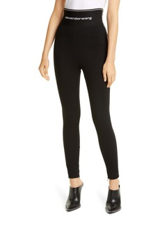 Alexander Wang Logo Waistband Leggings