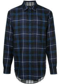 Alexander Wang long-sleeved check shirt - Black