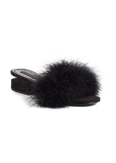 Alexander Wang Lou Feather Slide Sandal (Women)
