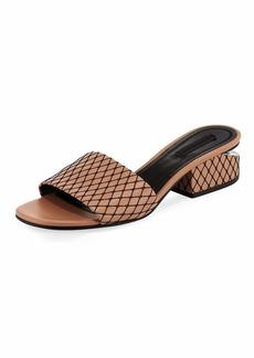 Lou Fishnet Slide Sandal
