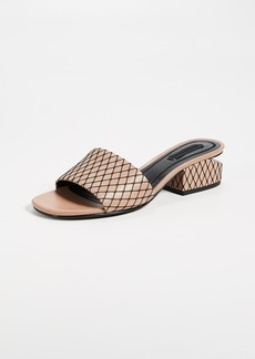 Alexander Wang Lou Low Heel Slide Sandals
