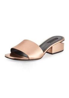 Alexander Wang Lou Metallic Slide Sandal