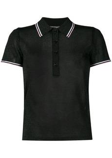 Alexander Wang lurex polo shirt - Green