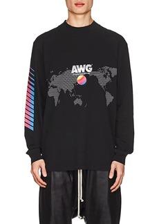 "Alexander Wang Men's ""AWG""-Graphic Cotton Long-Sleeve T-Shirt"