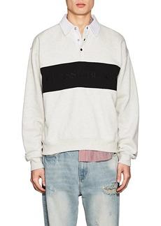 Alexander Wang Men's Cotton-Blend Oversized Rugby Shirt