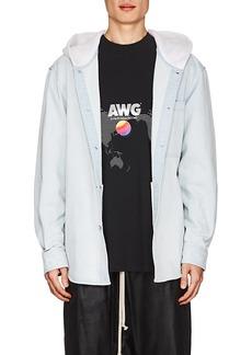 Alexander Wang Men's Denim Oversized Hooded Shirt Jacket