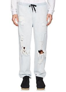 Alexander Wang Men's Distressed Denim Jogger Pants