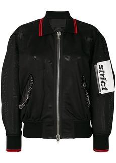 Alexander Wang mesh bomber jacket - Black