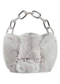 Alexander Wang Micro Mini Genuine Mink Fur Clutch
