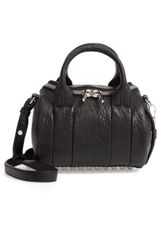 Alexander Wang Mini Rockie - Nickel Lambskin Leather Satchel