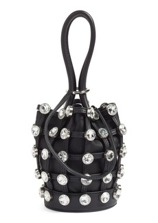 Alexander Wang Mini Roxy Crystal Studded Nappa Leather Bucket Bag