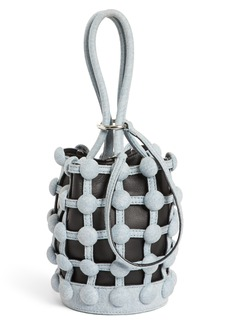 Alexander Wang Mini Roxy Denim Cage Leather Bucket Bag