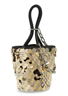 Alexander Wang Mini Roxy Sequin & Leather Bucket Bag