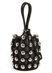 Alexander Wang Mini Roxy Studded Cage Leather Bucket Bag