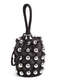 Alexander Wang Mini Roxy Studded Suede Bucket Bag