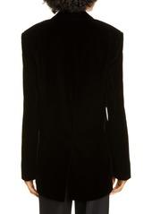 Alexander Wang Mixed Button Velvet Tuxedo Blazer