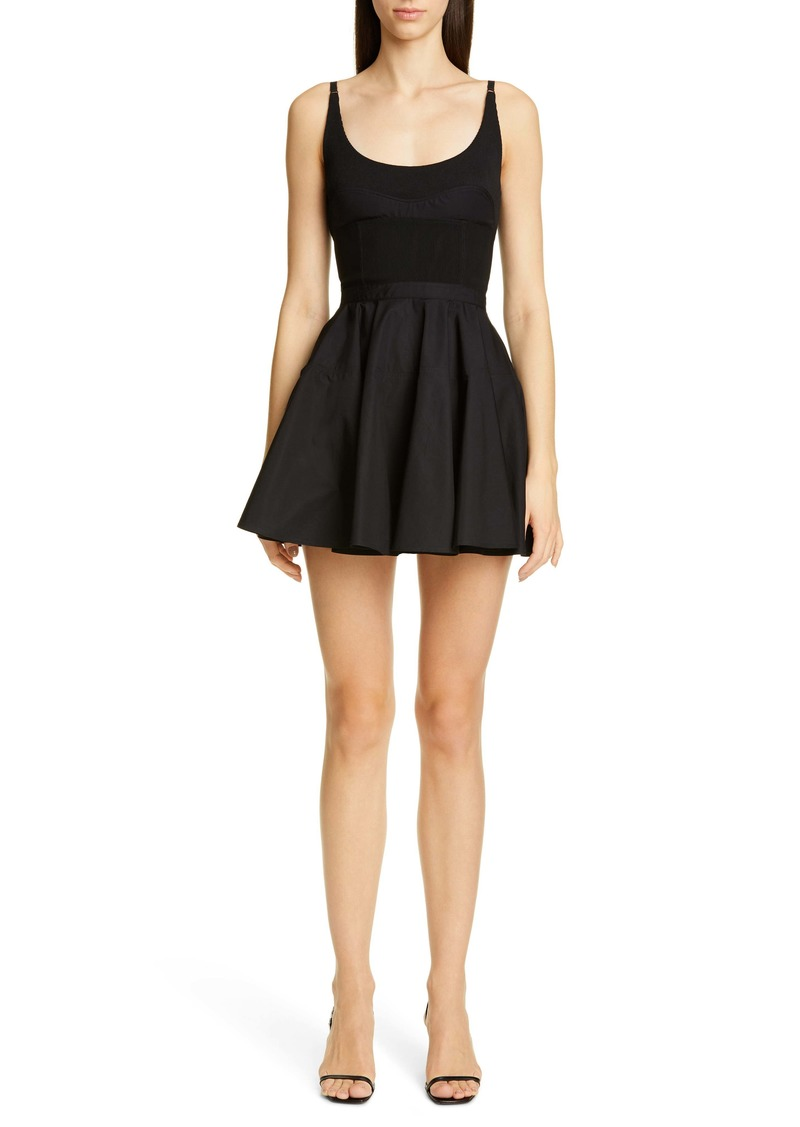 Alexander Wang Mixed Media Fit & Flare Minidress