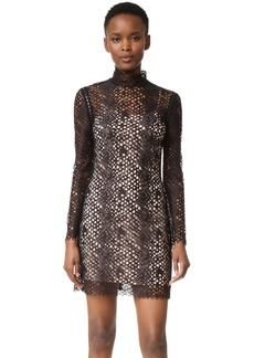 Alexander Wang Mock Neck Lace Mini Dress