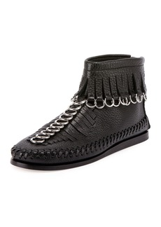 Alexander Wang Montana Pebbled Leather Moccasin Bootie