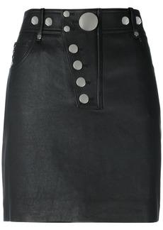 Alexander Wang multi snap mini skirt - Black