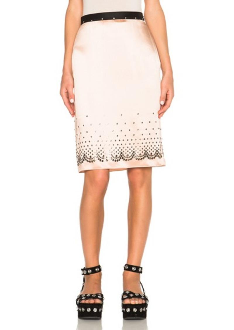 Alexander Wang Nailhead Slip Skirt