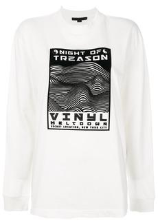 Alexander Wang Night of Treason print sweatshirt - White