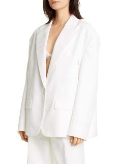 Alexander Wang Oversize Sweatshirt Blazer