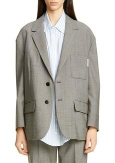 Alexander Wang Oversize Wool & Mohair Blend Blazer