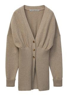 Alexander Wang Oversized Ribbed Hem Wool & Cashmere Blend Cardigan