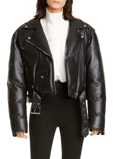 Alexander Wang Padded Leather Biker Jacket