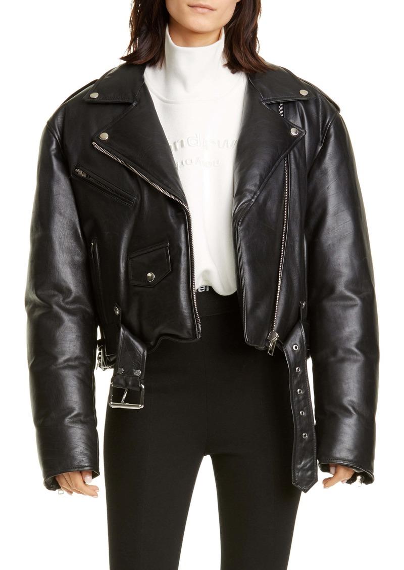 Alexander Wang Padded Leather Biker Jacket