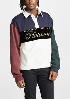 Alexander Wang Platinum Rugby Jersey Pullover