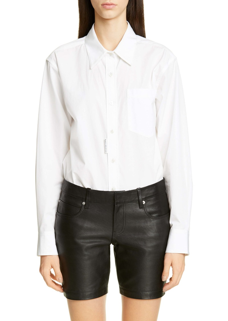Alexander Wang Poplin Shirt Bodysuit