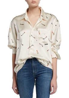 Alexander Wang Printed Silk Men's Shirt