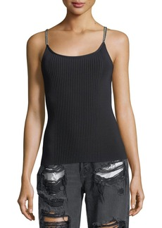 Alexander Wang Ribbed Chain-Trim Tank Top