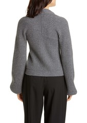 Alexander Wang Ribbed Wool & Cashmere Blend Cardigan