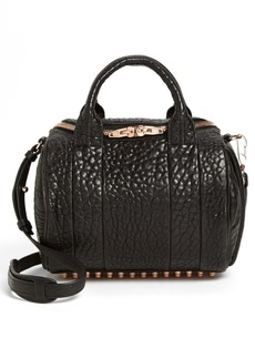 Alexander Wang 'Rockie - Rose Gold' Leather Crossbody Satchel