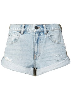 Alexander Wang rolled hem denim shorts - Blue