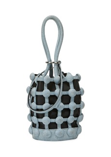 Alexander Wang Roxy Denim Caged Mini Small Bucket Bag