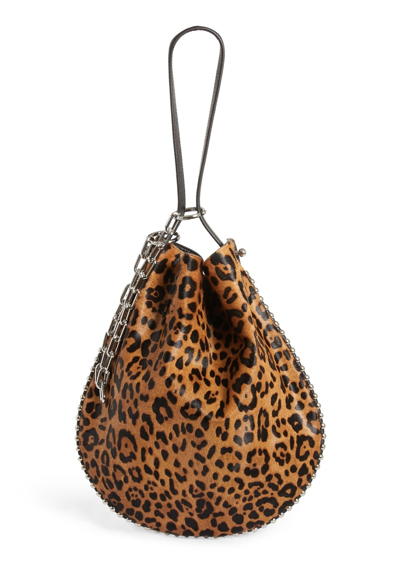 Alexander Roxy Leather Genuine Calf Hair Bucket Bag