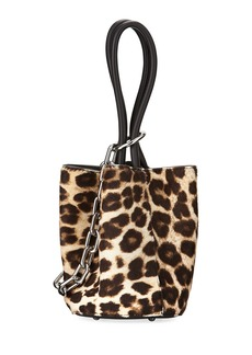 Alexander Wang Roxy Mini Leather Calf Hair Bucket Bag