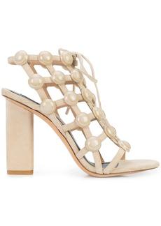Alexander Wang Rubie Lace Up sandals - Nude & Neutrals