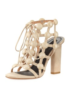 Alexander Wang Rubie Leather Cage Sandal