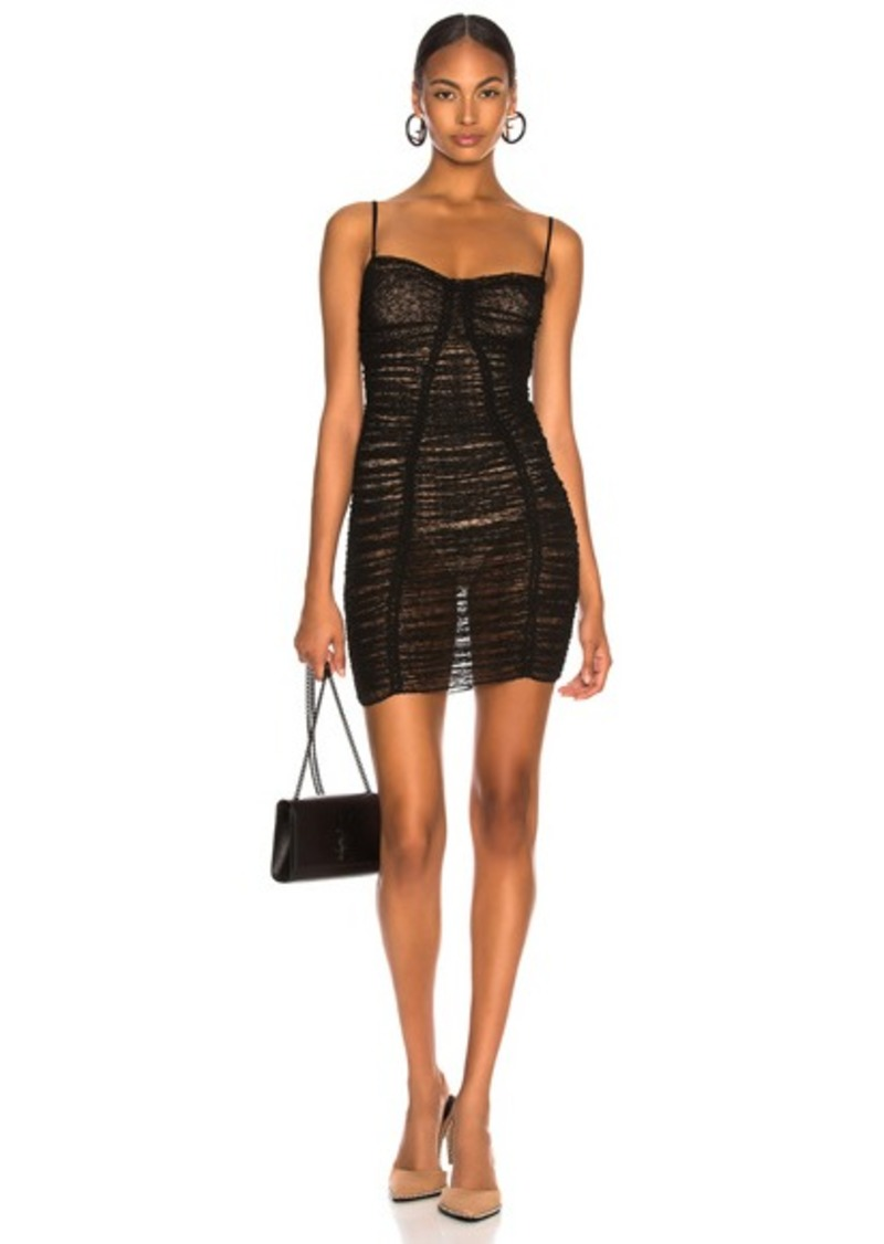 Alexander Wang Ruched Sheer Bodycon Dress