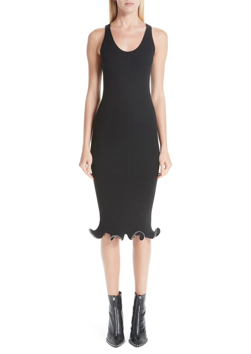 Alexander Wang Ruffle Zipper Hem Dress