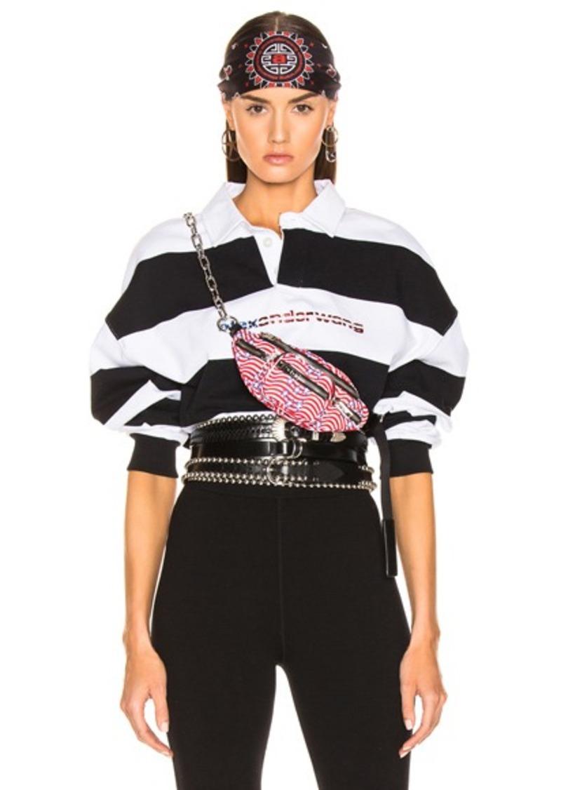 dc47c89844c60 Alexander Wang Alexander Wang Rugby Stripe Cropped Shirt