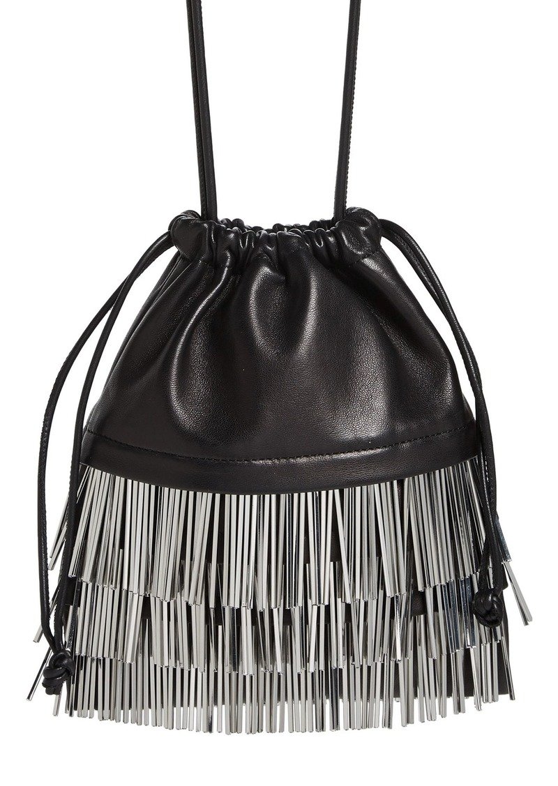 Alexander Wang Ryan Bugle Bead Fringe Dustbag Pouch